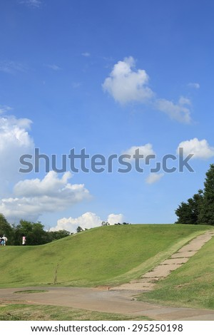 the beautiful golf course - stock photo