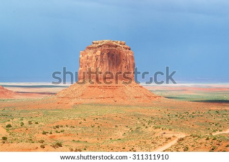 the beauty rocks of Monument Valley  - stock photo