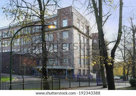 the cadbury chocolate factory bourneville, birmingham midlands england uk - stock photo