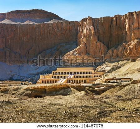 the Memorial Temple of Hatshepsut . Luxor, Egypt, 2012 year - stock photo