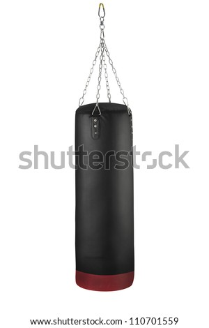 the punching bag with clipping path