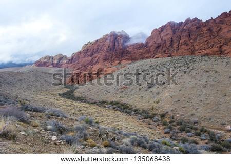 The Red Rock canyon near las vegas , Nevada. - stock photo