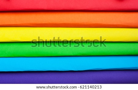 symbol lgbt colors rainbow multicolored paper stock photo royalty