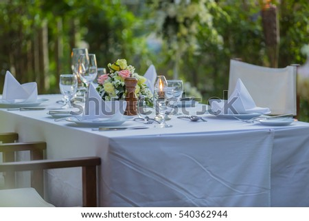 """The  tables wedding."""