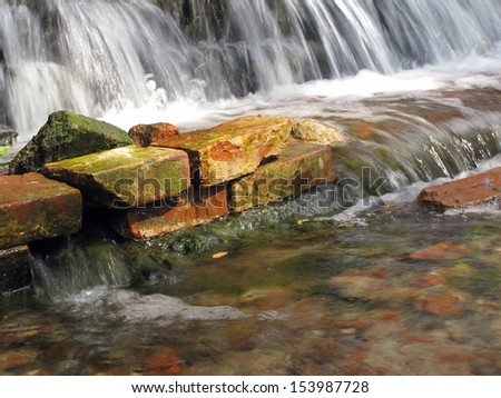 The underground river goes outside                          - stock photo