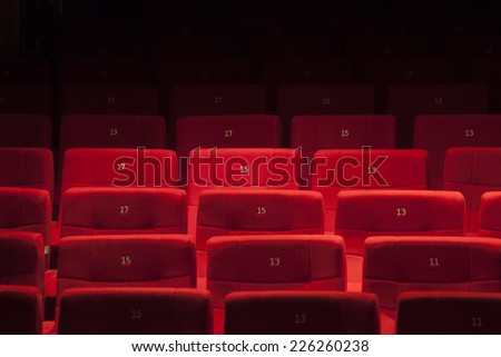 Theatre's seats - stock photo