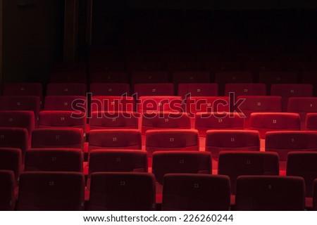 Theatre's seats - stock photo
