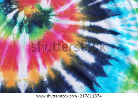 tie dyed fabric background.