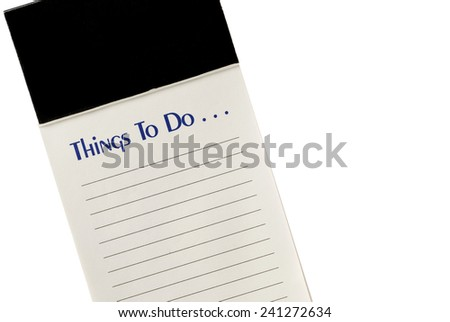 'To Do' List With Blank Header and Copy Space On White Background - stock photo