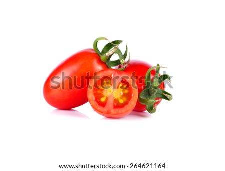 tomato on white background - stock photo