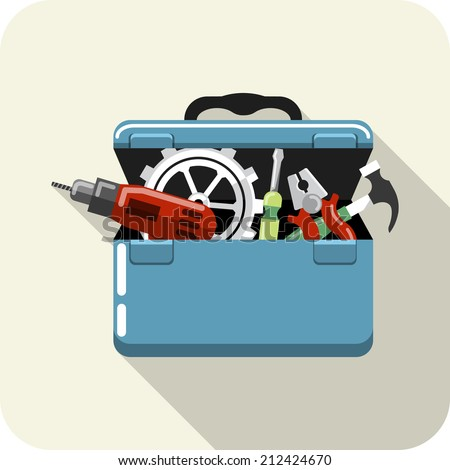 Toolbox with Tools - stock photo