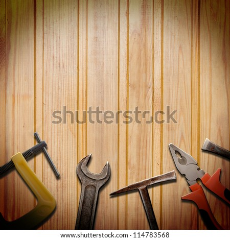 tools for repairs on the grunge background - stock photo
