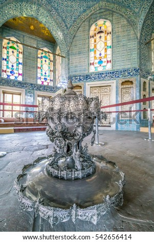 8-10-2016 Topkapi Palace architecture in Istanbul, Turkey on 8th of October 2016