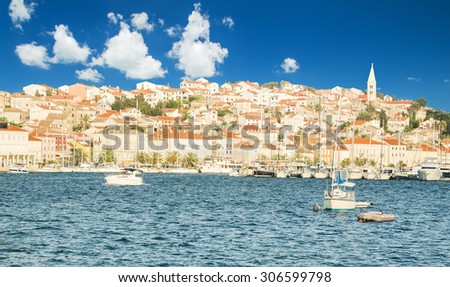 Town of Mali Losinj on the Island of Losinj, Croatia, waterfront, summer day