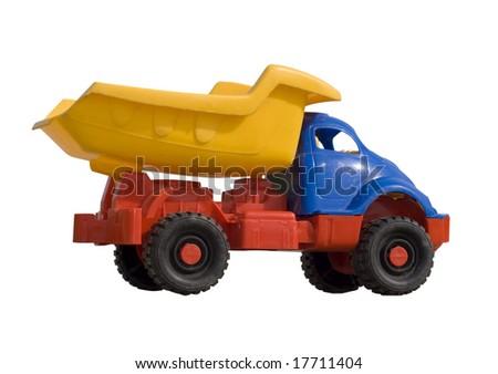 toy dump truck isolated on white - Toy Dump Trucks
