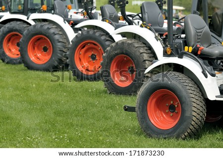 tractor on line - stock photo