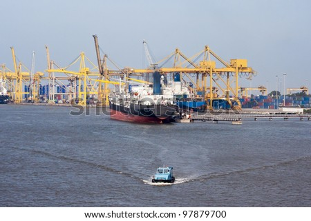 Trading port - stock photo
