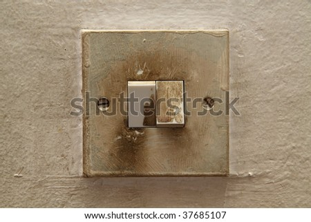Traditional  electric switch - stock photo
