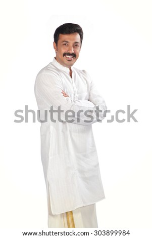 Traditional Indian young man. - stock photo