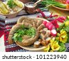 traditional ukrainian food in assortment in festive decorating#5 - stock photo