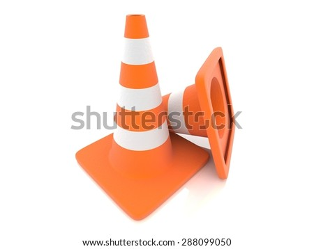 traffic cone,3d - stock photo