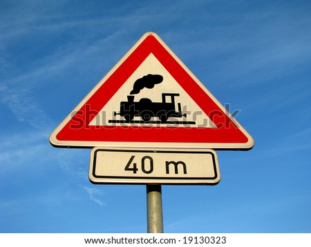train - road sign