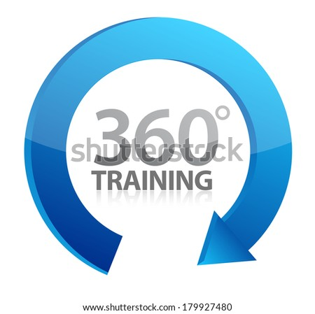 360 training cycle illustration design over a white background - stock photo