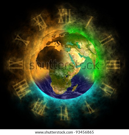 2012 - Transformation of consciousness on Earth - Europe, Asia, Africa - stock photo