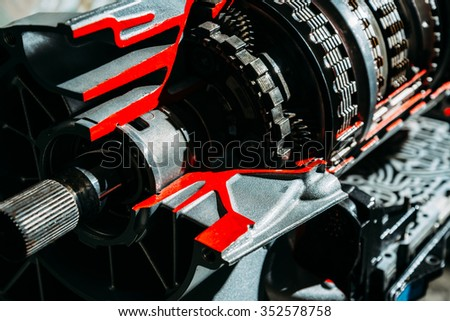 Transmission car - stock photo