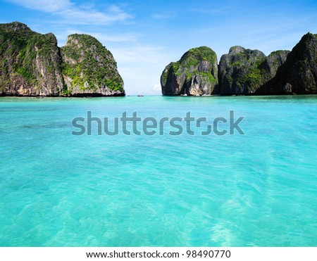 tropical island Thsiland - stock photo