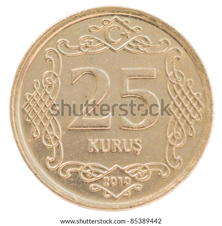 25 turkish kurus coin