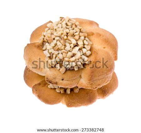 Two delicious cookies isolated on white background