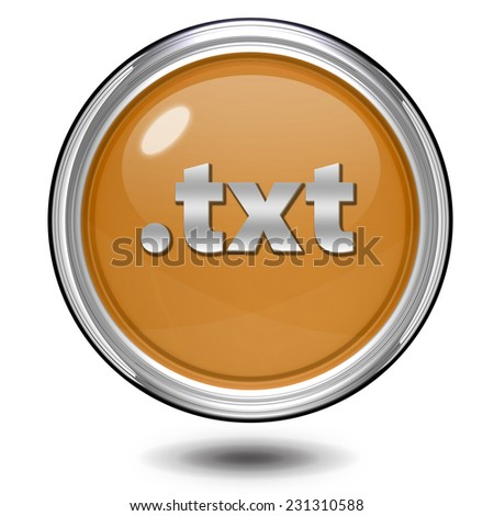 .txt circular icon on white background