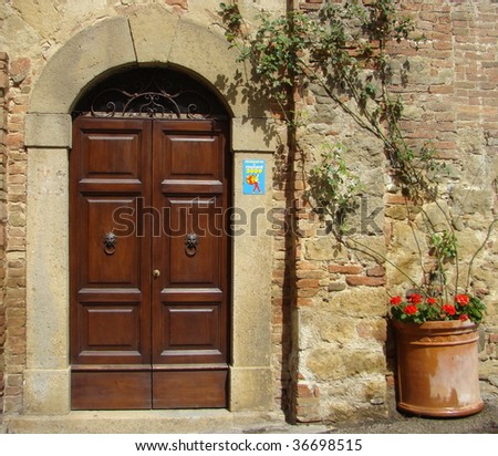 typical italian entrance - stock photo