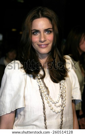 "01/27/2005 - Universal Studios Hollywood - Amanda Peet at the Premiere of""The Wedding Date"". - stock photo"