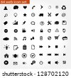 64 universal web icon set - stock vector