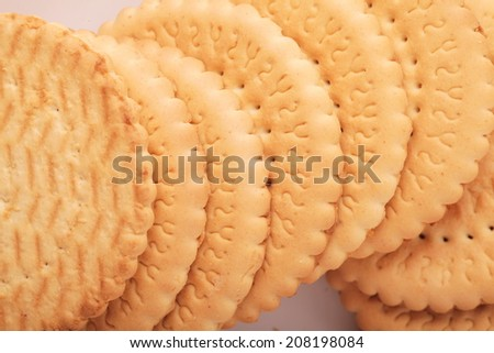 unusual abstract cookies background texture - stock photo