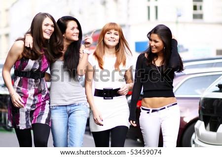 urban women outdoor - stock photo