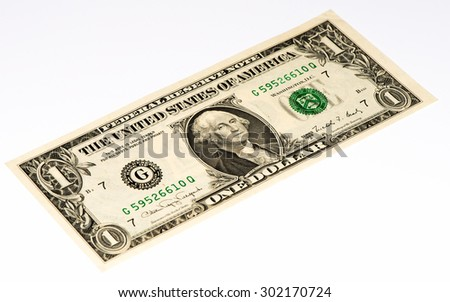 1 US dollar made in 1988. - stock photo