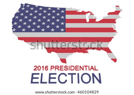 2016 Us Presidential Election Stars Stripes Stock Illustration