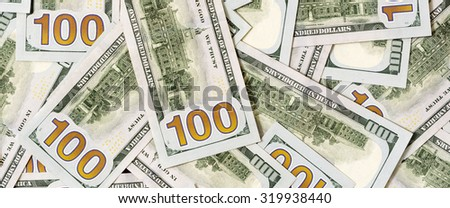 100 Usd banknotes - stock photo