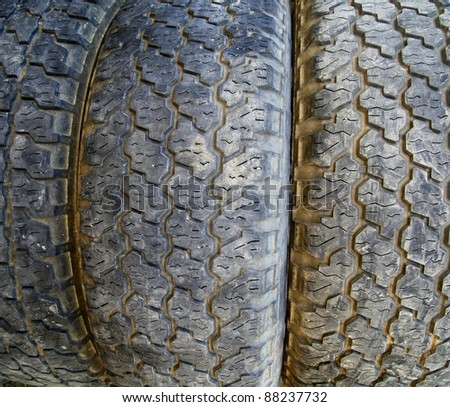 Used tire texture - stock photo