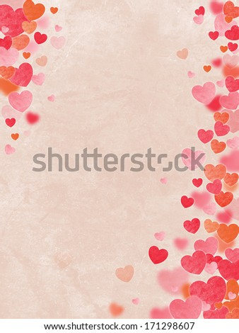 Valentine's Day background. Power of Love