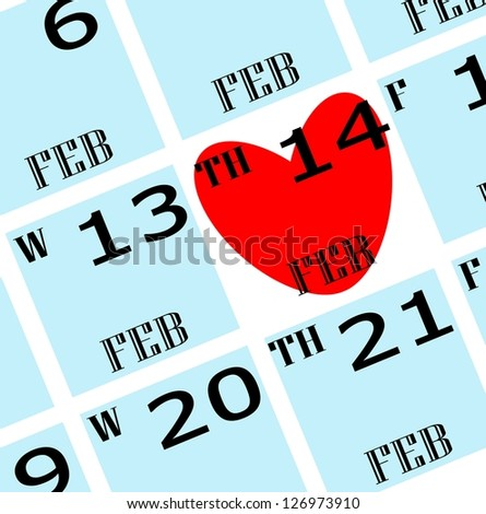2013 valentine's day calendar icon