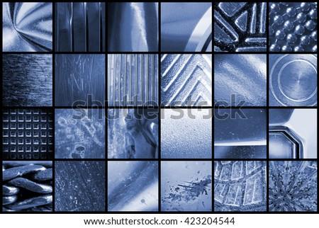 various metals textures - stock photo