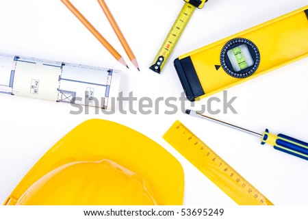 various tools for construction and architecture