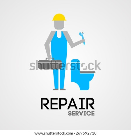 vector illustration repair service  - stock photo