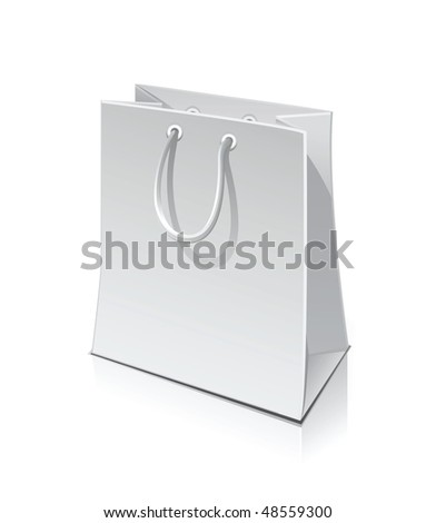vector shopping packet (bag) isolated on white