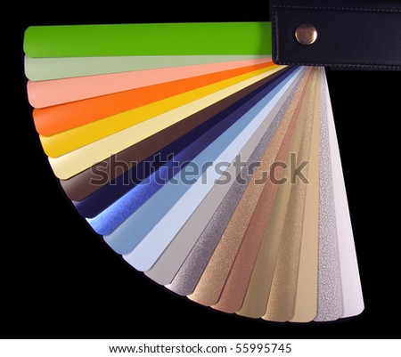Venetian Blinds Color Chart Stock Photo Royalty Free 55995745