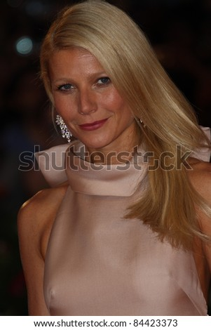 VENICE, ITALY - SEPTEMBER 03: Actress Gwyneth Paltrow attends 'Contagion' Premiere at Palazzo del Cinema on September 3, 2011 in Venice, Italy. - stock photo